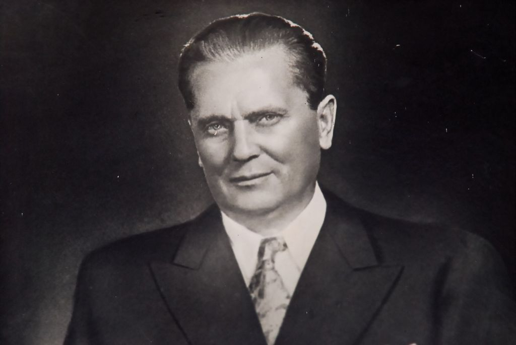 May 7, 2012 is the 120 th anniversary of the birth of Tito. He was born in Kumrovec, a little village of Croatia.Josip was born as the seventh child of Franjo and Marija Broz. He was Secretary-General (later President) of the League of Communists of Yugoslavia (1939–80), and went on to lead the World War II Yugoslav guerrilla movement, the Yugoslav Partisans (1941–45). After the war, he was the Prime Minister (1943–63) and later President (1953–80) of the Socialist Federal Republic of Yugoslavia (SFRY). From 1943 to his death in 1980, he held the rank of Marshal of Yugoslavia, serving as the supreme commander of the Yugoslav military, the Yugoslav People's Army (JNA). With a highly favourable reputation abroad in both Cold War blocs, Josip Broz Tito received some 98 foreign decorations, including the Legion of Honour, and the Order of the Bath., Image: 128741097, License: Rights-managed, Restrictions: , Model Release: no, Credit line: Profimedia, Alamy