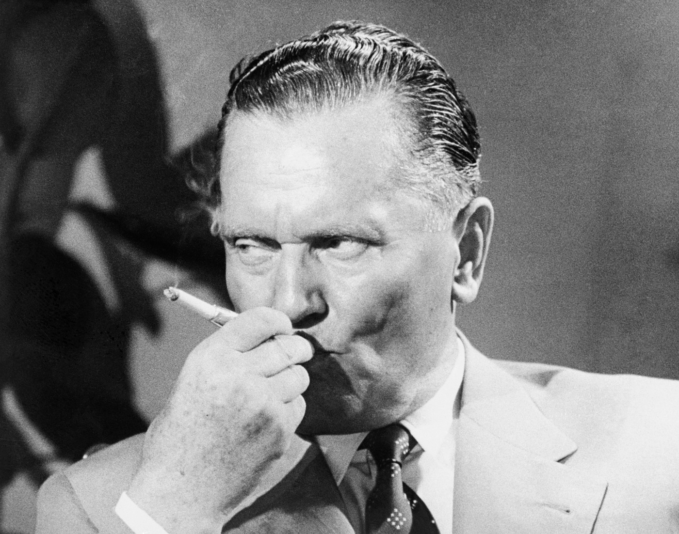 Original caption: Tito prepares for television. Brioni, Yugoslavia: Yugoslav president Josip Broz Tito takes time out for a smoke at his summer home in the Adriatic while playing host to CBS reporter Edward R. Murrow and company. Murrow was on hand to film an interview with the Yugoslav leader for use on his See It Now program Sunday, June 30th, to be followed by a discussion featuring a panel of experts. The informal atmosphere of the resort island was enhanced by the presence of Tito's wife, Jovanka, at the interview session., Image: 16470417, License: Rights-managed, Restrictions: , Model Release: no, Credit line: Profimedia, Corbis